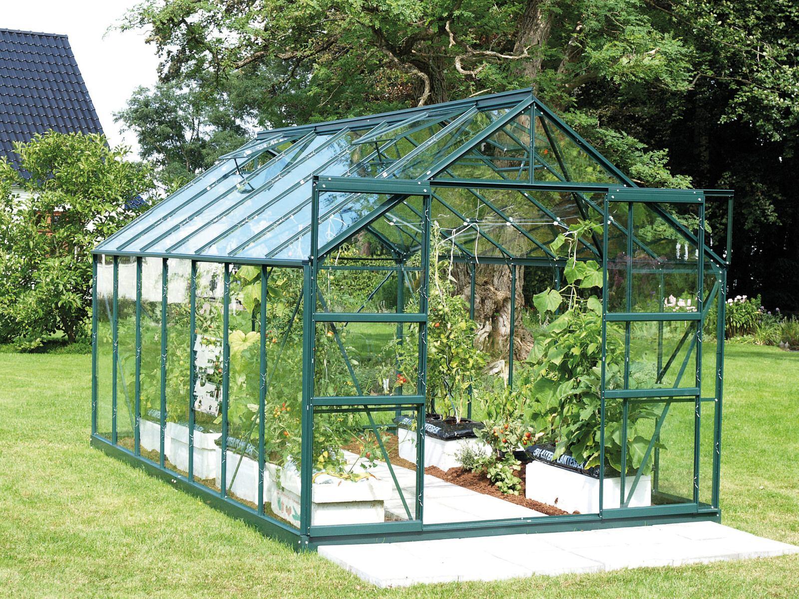 skleník VITAVIA URANUS 11500 čiré sklo 3 mm zelený