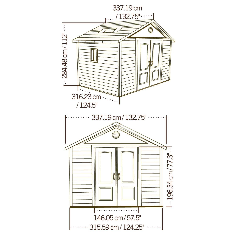 plastový domek LIFETIME 6433 KING SIZE