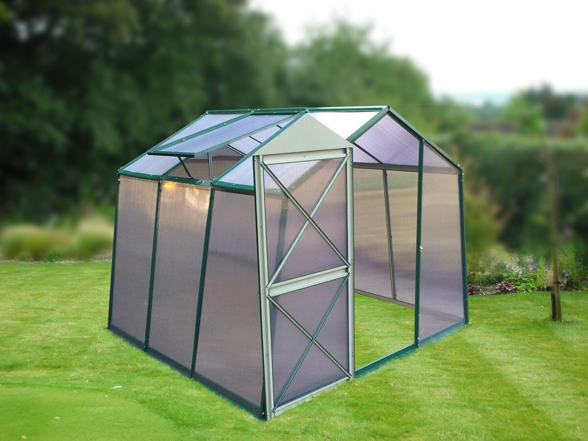 skleník LANITPLAST DODO 8x7 PC 4 mm zelený