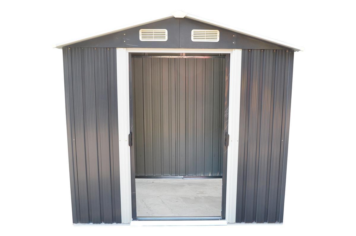 zahradní domek MAXTORE 810 - 257 x 312 cm, šedý