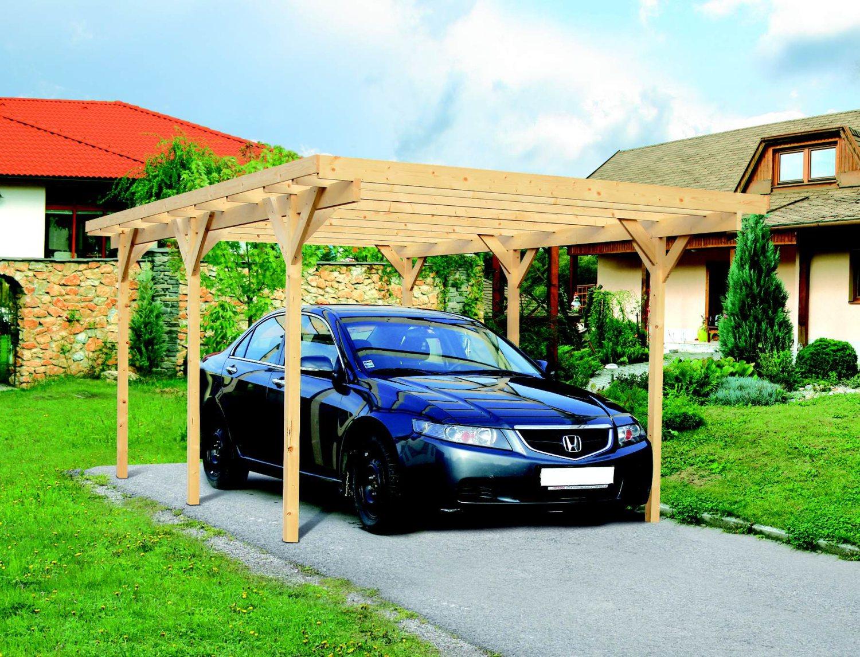 carport LANITPLAST 3 x 5 m + čirá střecha z polykarbonátu CSE