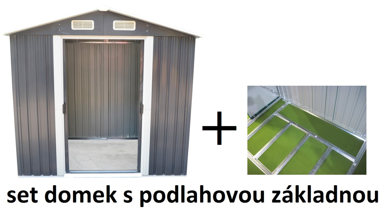 set domek se základnou MAXTORE 810 - 257 x 312 cm, šedý