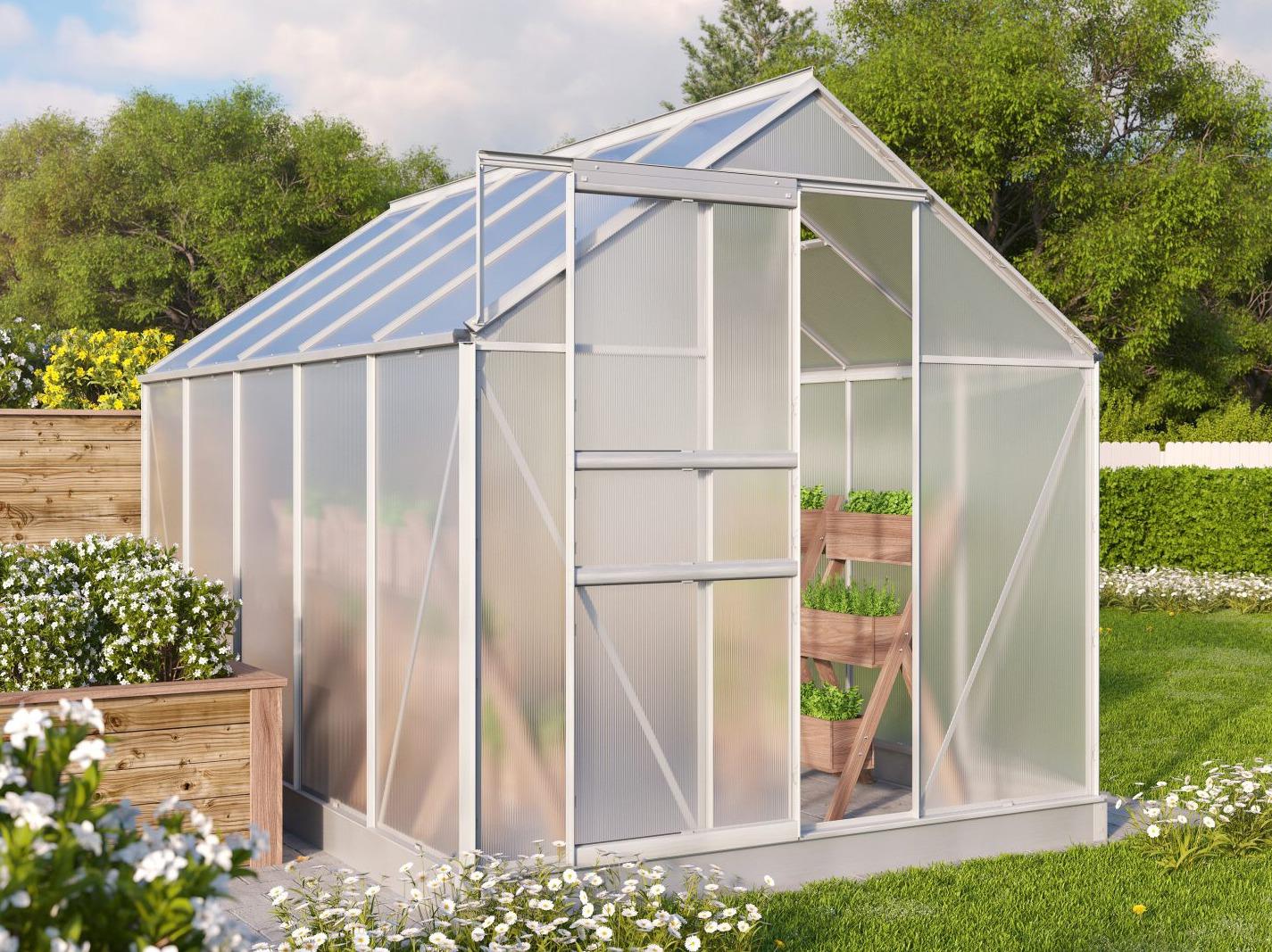 skleník VITAVIA TARGET 6200 PC 4 mm stříbrný
