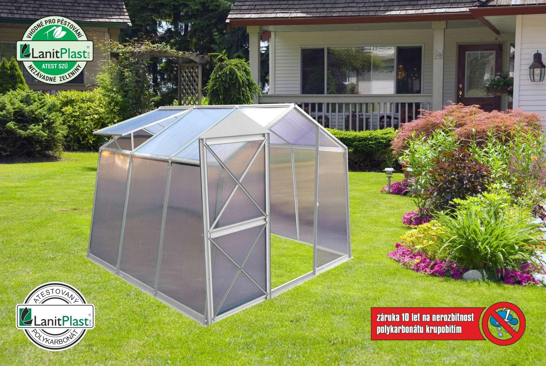 skleník LANITPLAST DODO BIG 8x7 PC 6 mm šedý