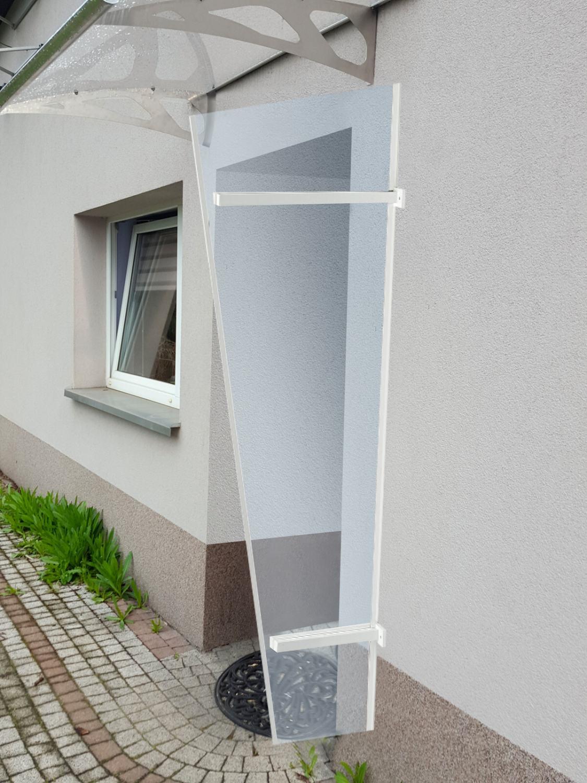 univerzální boční stěna LANITPLAST UNI bílá / PLEXI