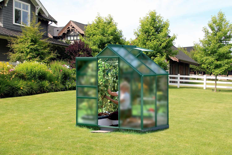skleník VITAVIA VENUS 2500 matné sklo 4 mm zelený