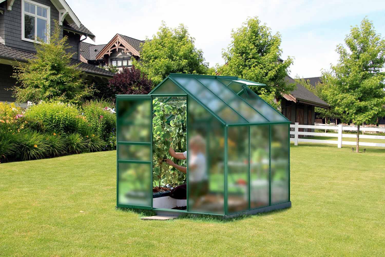 skleník VITAVIA VENUS 3800 matné sklo 4 mm zelený