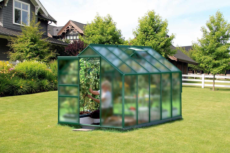 skleník VITAVIA VENUS 6200 matné sklo 4 mm zelený