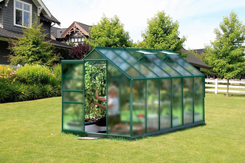 skleník VITAVIA VENUS 7500 matné sklo 4 mm zelený