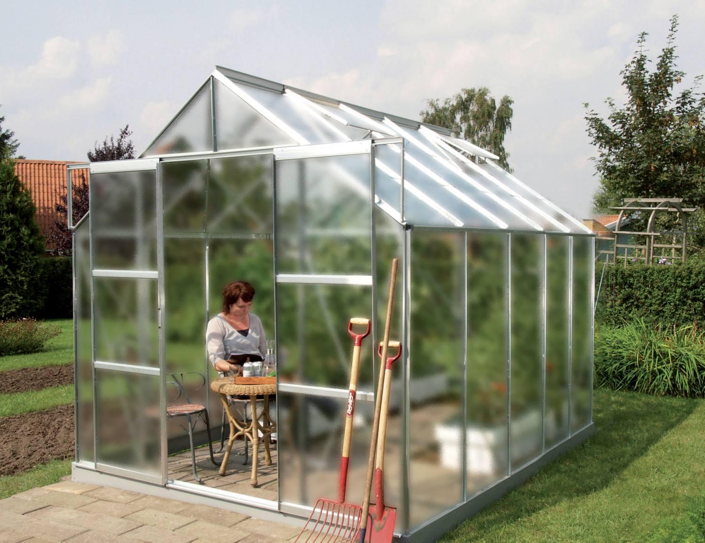 skleník VITAVIA URANUS 8300 matné sklo 4 mm stříbrný