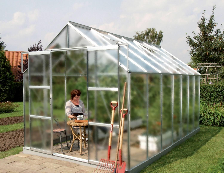 skleník VITAVIA URANUS 11500 matné sklo 4 mm stříbrný