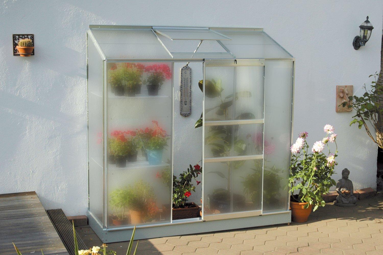 skleník VITAVIA IDA 1300 matné sklo 4 mm stříbrný