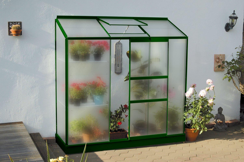 skleník VITAVIA IDA 1300 matné sklo 4 mm zelený