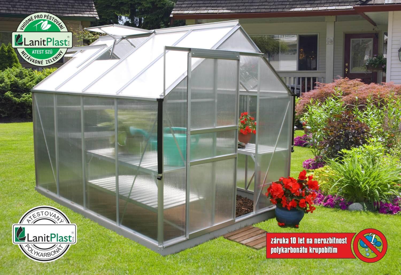 skleník VITAVIA TARGET 5000 PC 4 mm stříbrný - SLEVA
