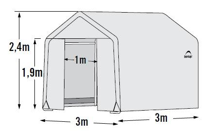 fóliovník SHELTERLOGIC 3,0x3,0 m - 35 mm - 70656EU