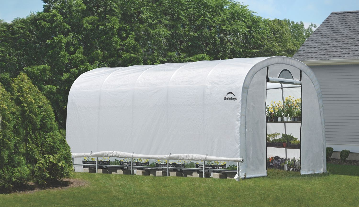 SHELTERLOGIC 3,7x6,1 m - 41 mm - 70592EU fóliovník