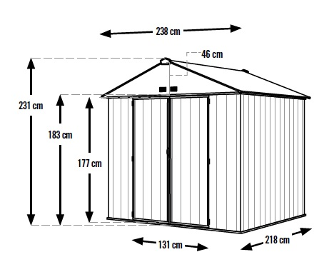 zahradní domek ARROW EZEE SHED 87 tmavě šedý