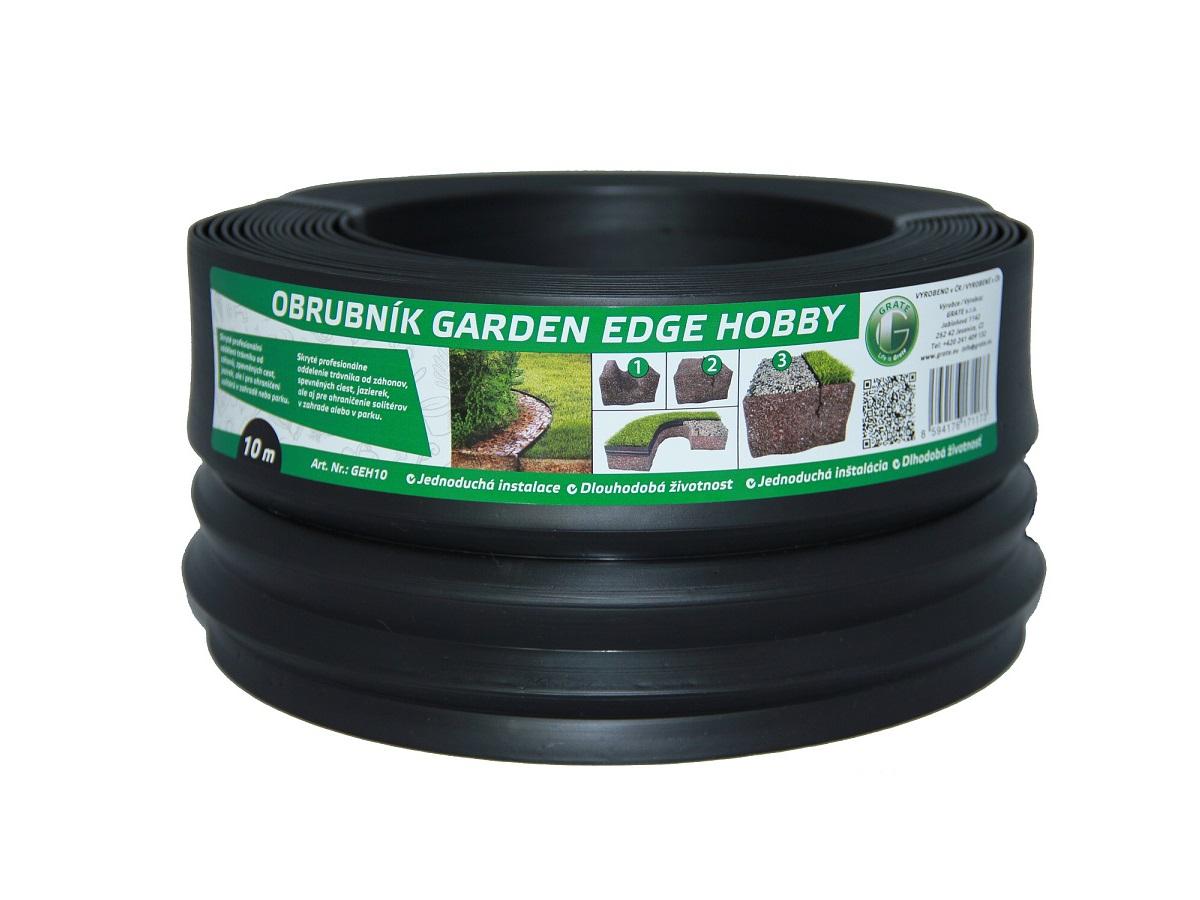 GARDEN EDGE HOBBY 10 m černý zahradní obrubník