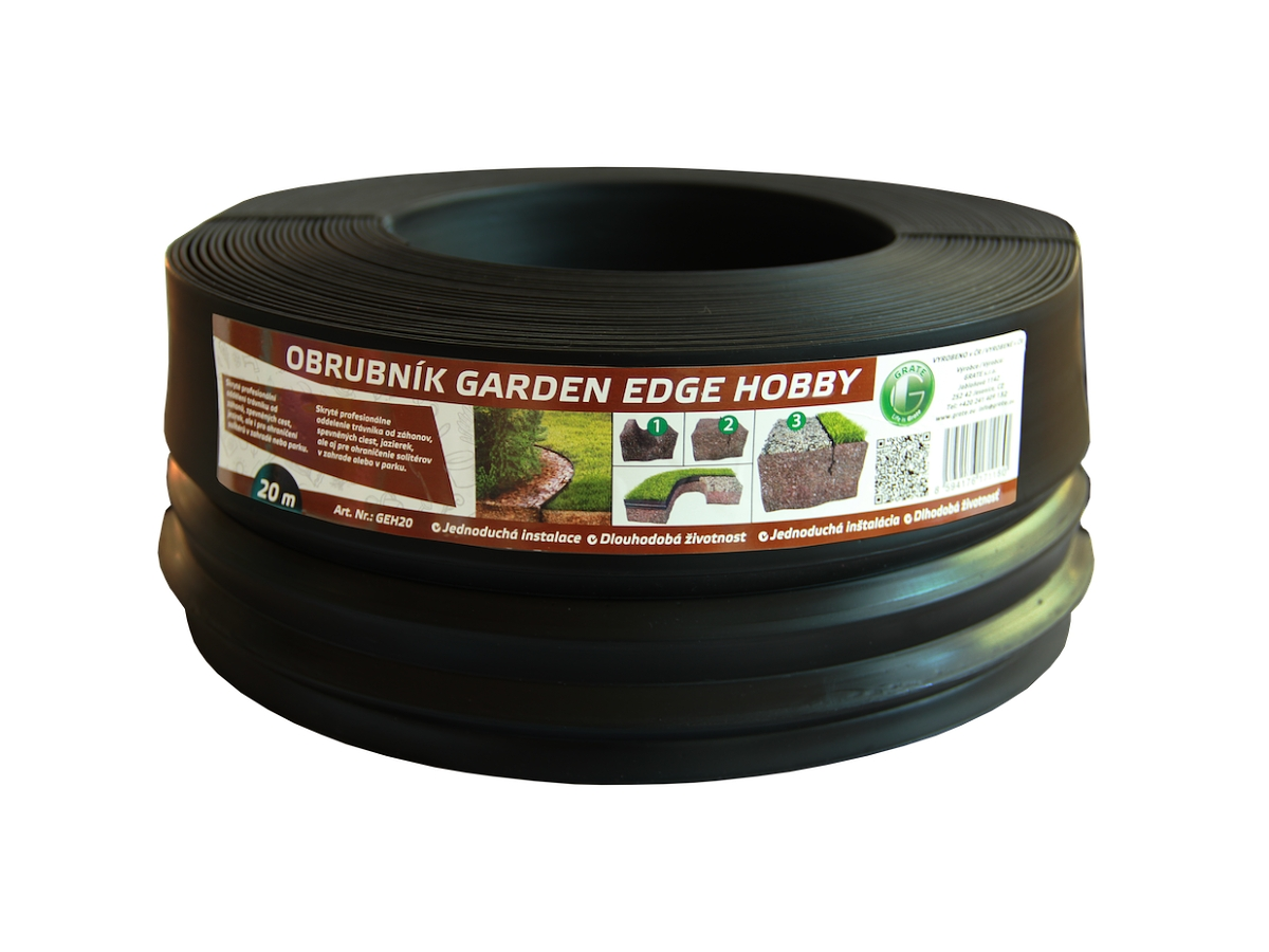 GARDEN EDGE HOBBY 20 m černý zahradní obrubník