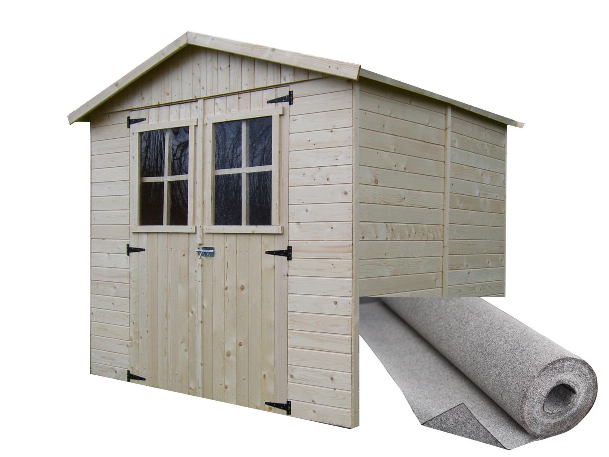dřevěný domek SOLID EVA 229 x 194 cm (P851)