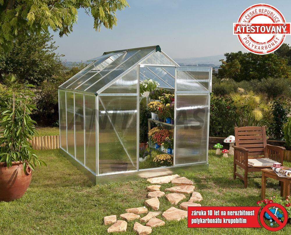 skleník MULTILINE KLASIK typ 6x8, rozměr 193 x 255 cm