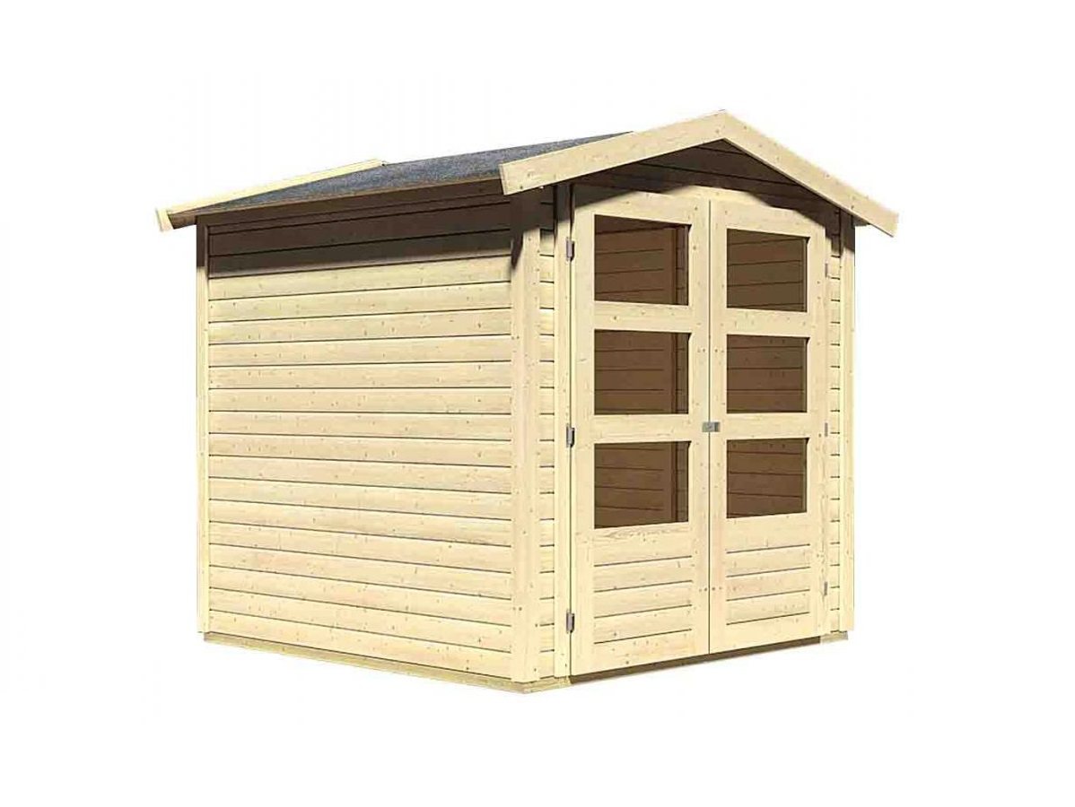 dřevěný domek KARIBU AMBERG 2 (82971) natur