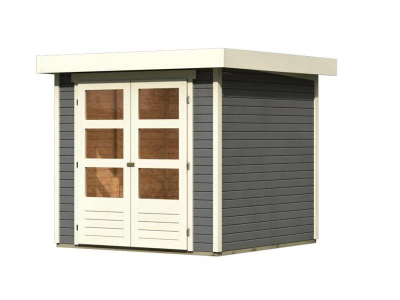 dřevěný domek KARIBU ASKOLA 2 (82901) tm. šedý