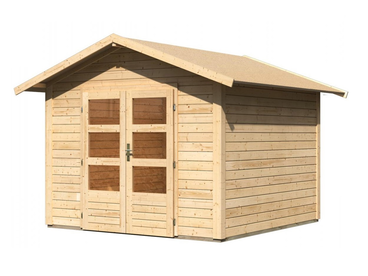 dřevěný domek KARIBU TALKAU 6 (83338) natur