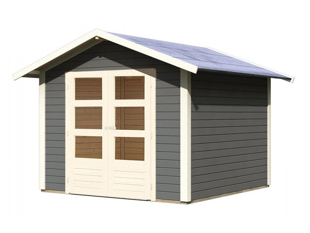 dřevěný domek KARIBU TALKAU 6 (83339) tm. šedý