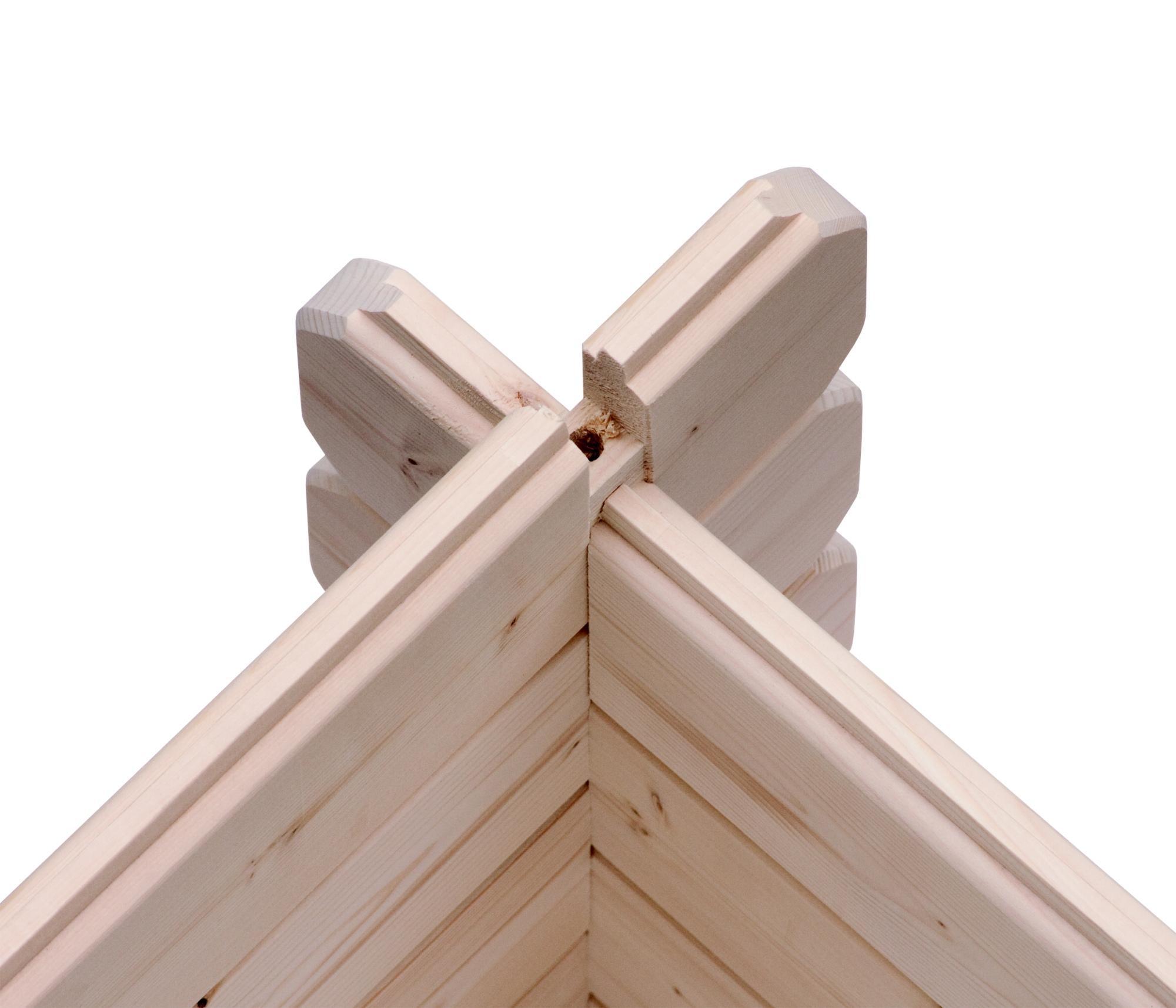 dřevěný domek KARIBU LAGOR 1 (44982) natur