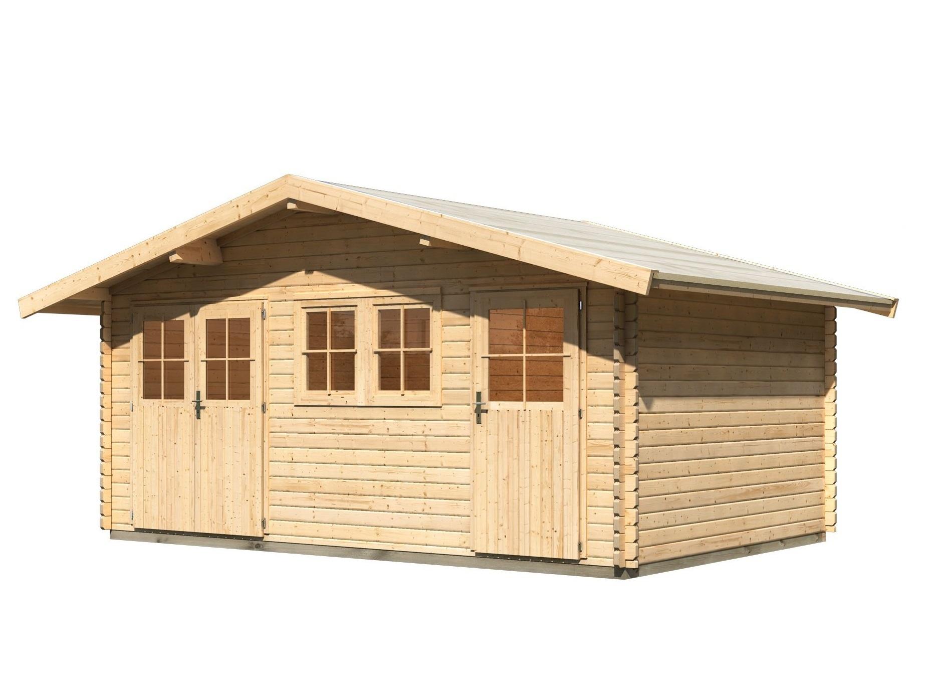 dřevěný domek KARIBU LAGOR 2 (44984) natur