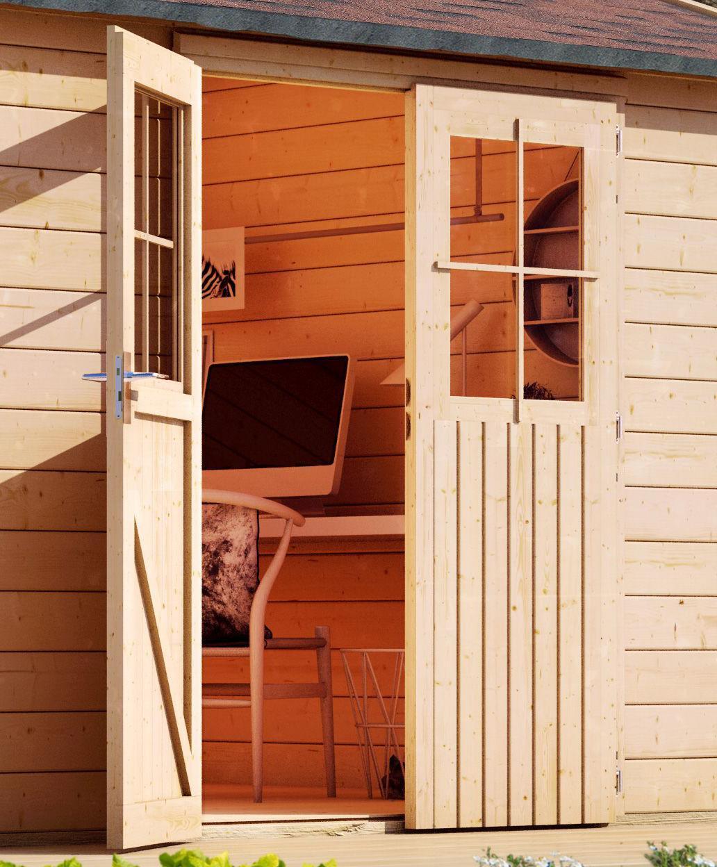 dřevěný domek KARIBU TECKLENBURG 3 (83411) natur