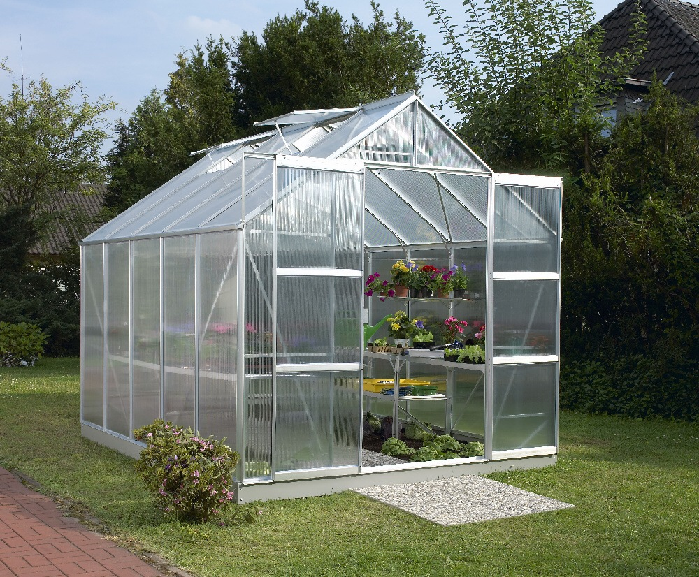 skleník VITAVIA URANUS 8300 PC 4 mm stříbrný