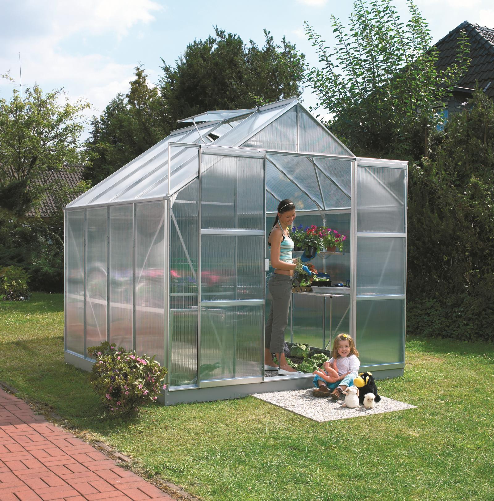 skleník VITAVIA URANUS 6700 PC 6 mm stříbrný