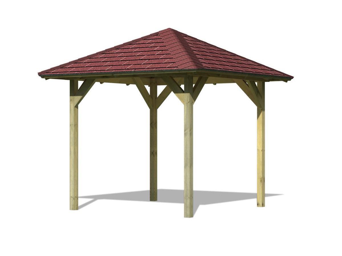 KARIBU LILLEHAMMER 1 68817 zahradní altán vč. červeného střešního šindele