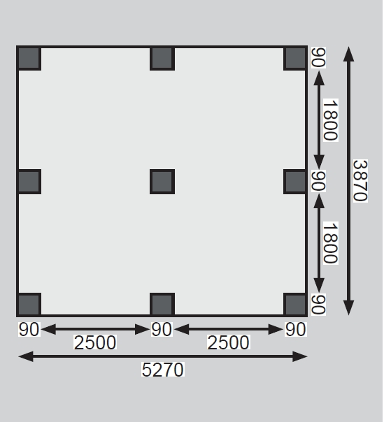 dvojitý carport KARIBU ECO 1A 62035