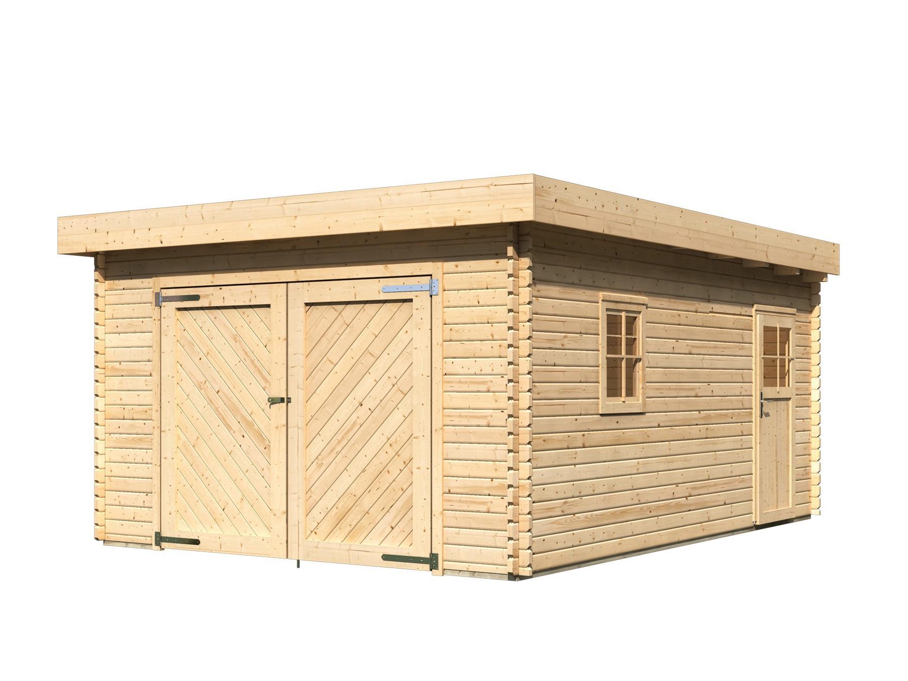 dřevěná garáž KARIBU 68284 40 mm natur