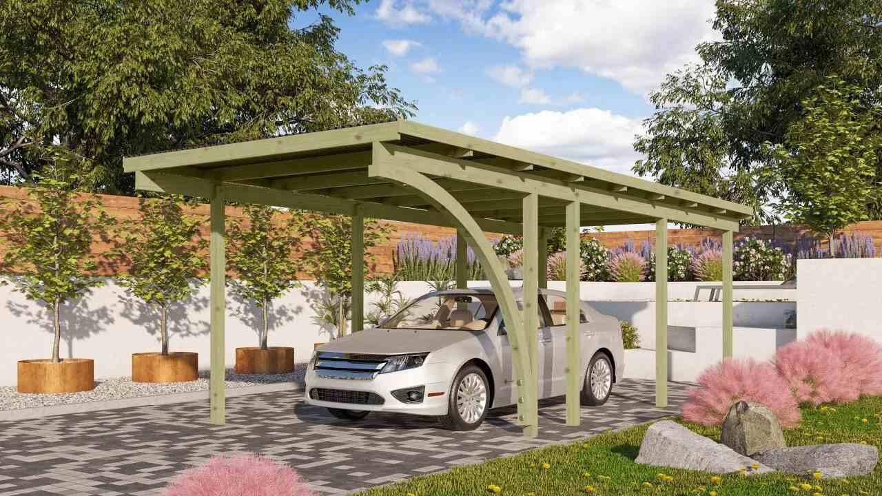 Přístřešek pro auto carport KARIBU ECO 2B 62031