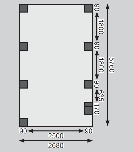 carport KARIBU ECO 2B 62031