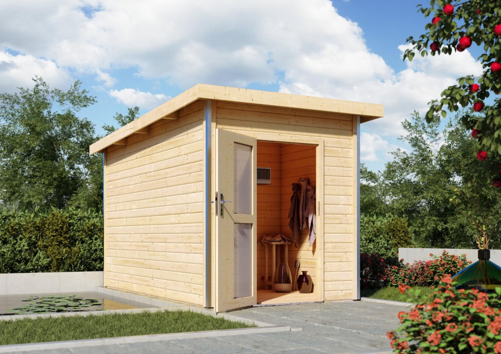 finská sauna KARIBU TORGE (86196) s předsíní