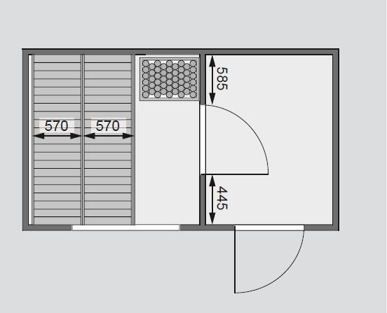 finská sauna KARIBU SKROLLAN 1 (86287) s předsíní