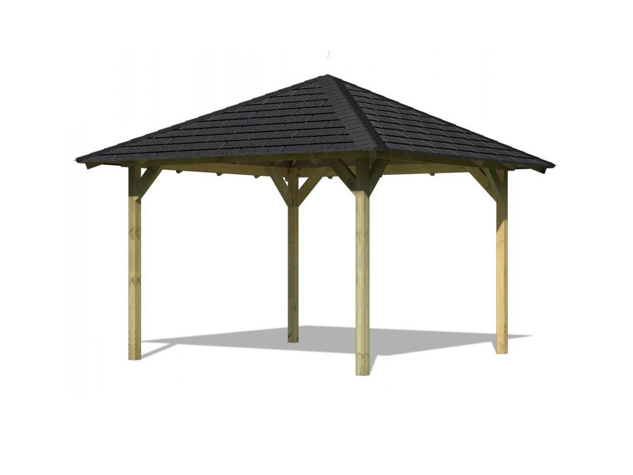 KARIBU CORDOBA 68820 zahradní altán vč. černého střešního šindele