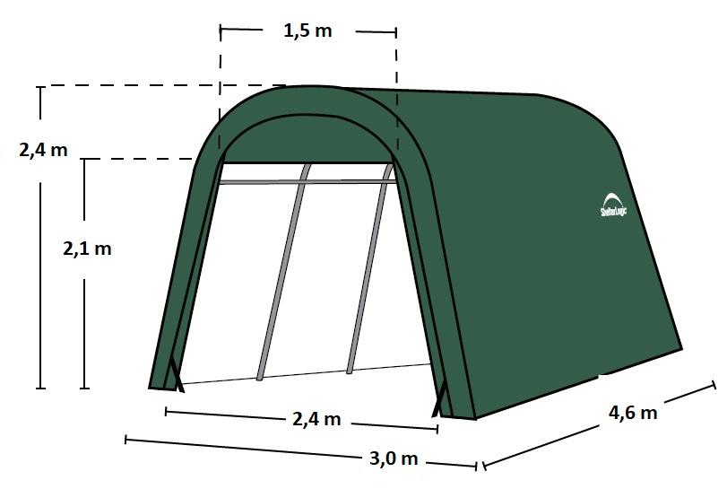 náhradní plachta pro garáž SHELTERLOGIC 3,0x4,6 m (62589EU)