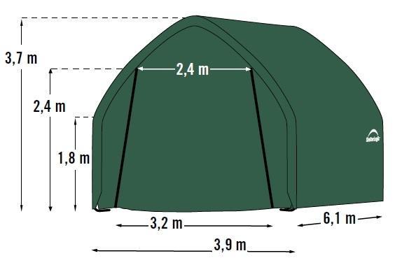 náhradní plachta pro garáž 3,9x6,1 m (62730EU)