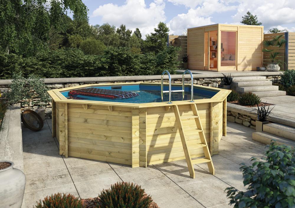 bazén KARIBU 4,0 x 4,0 m A1 KOMFORT (91845)