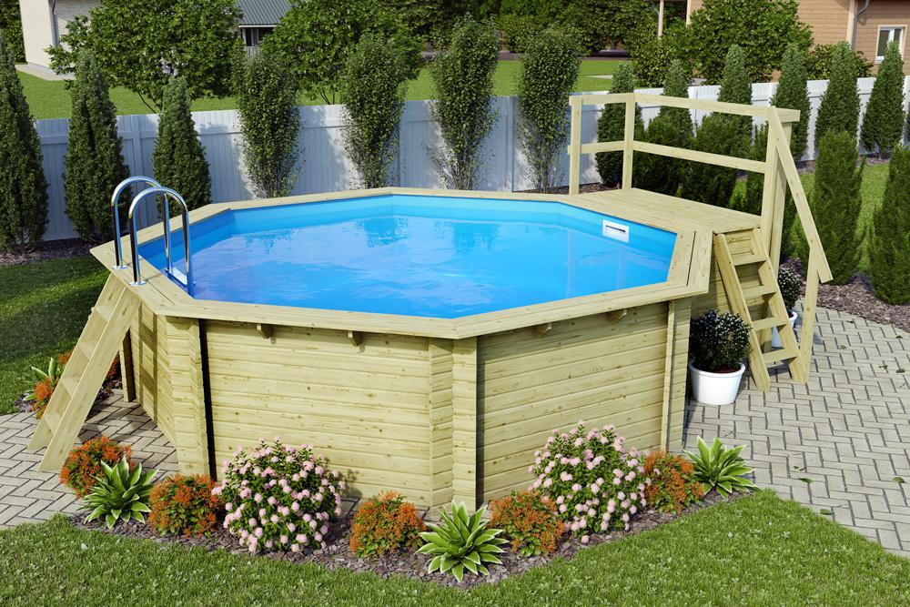 bazén KARIBU 4,0 x 4,0 m B1 KOMFORT (91846)
