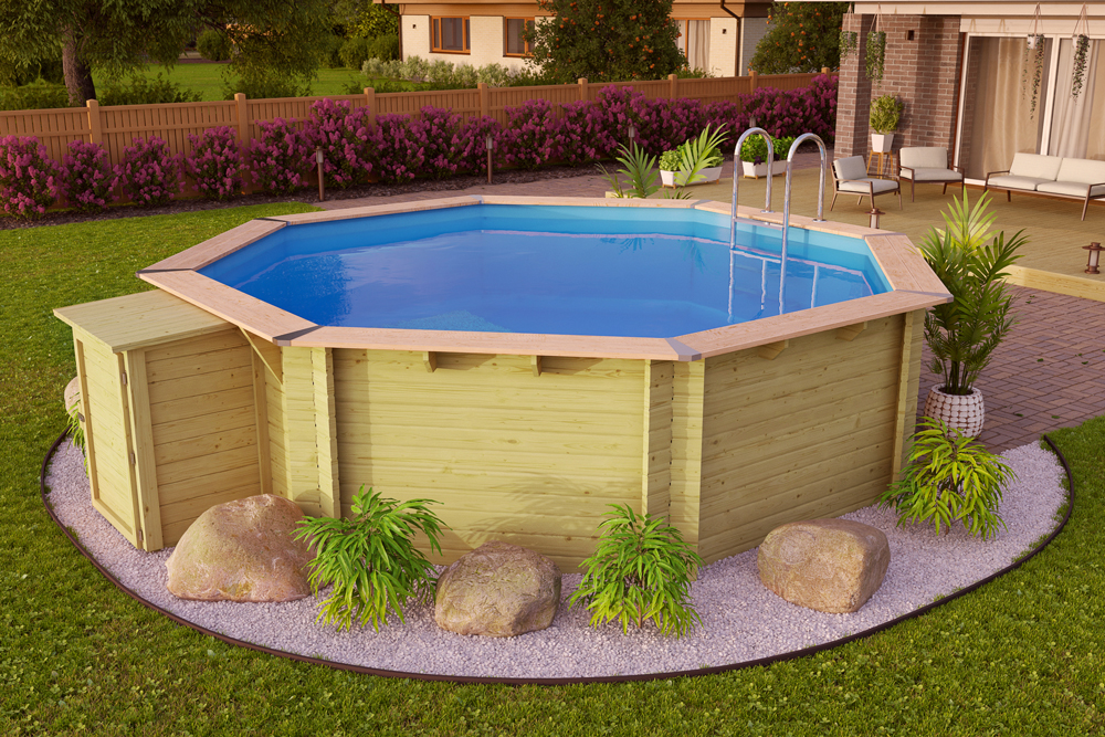 bazén KARIBU 4,0 x 4,0 m A1 PREMIUM KOMFORT (92113)