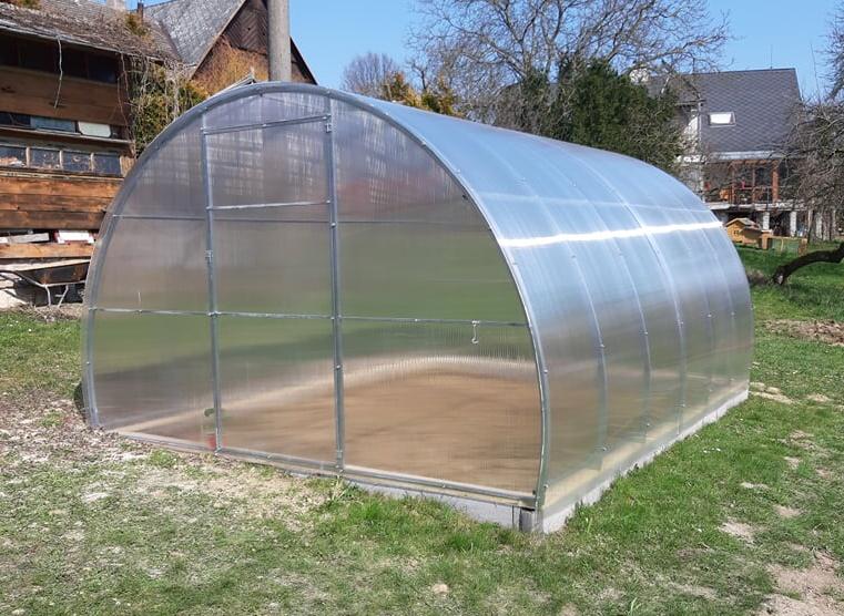 skleník LANITPLAST VOLHA 3,3x4 m PC 8 mm