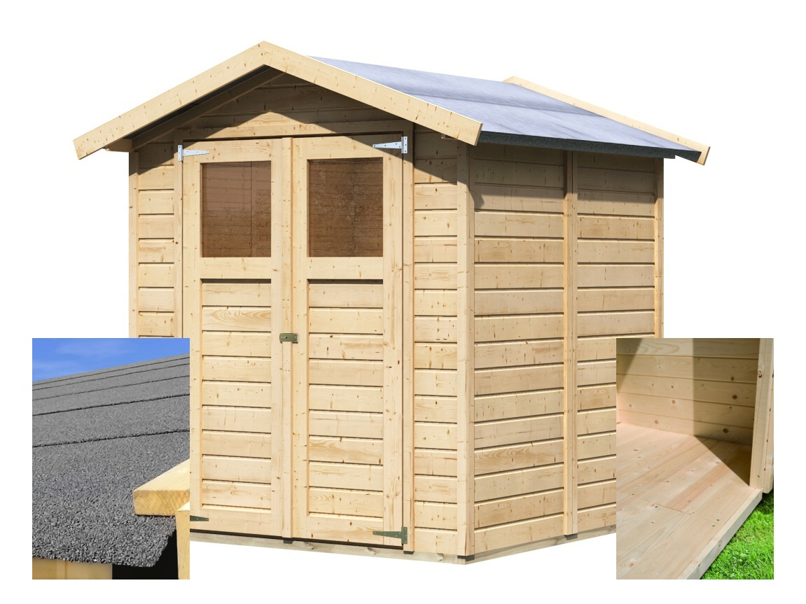 dřevěný domek KARIBU DAHME 3 (14437) SET