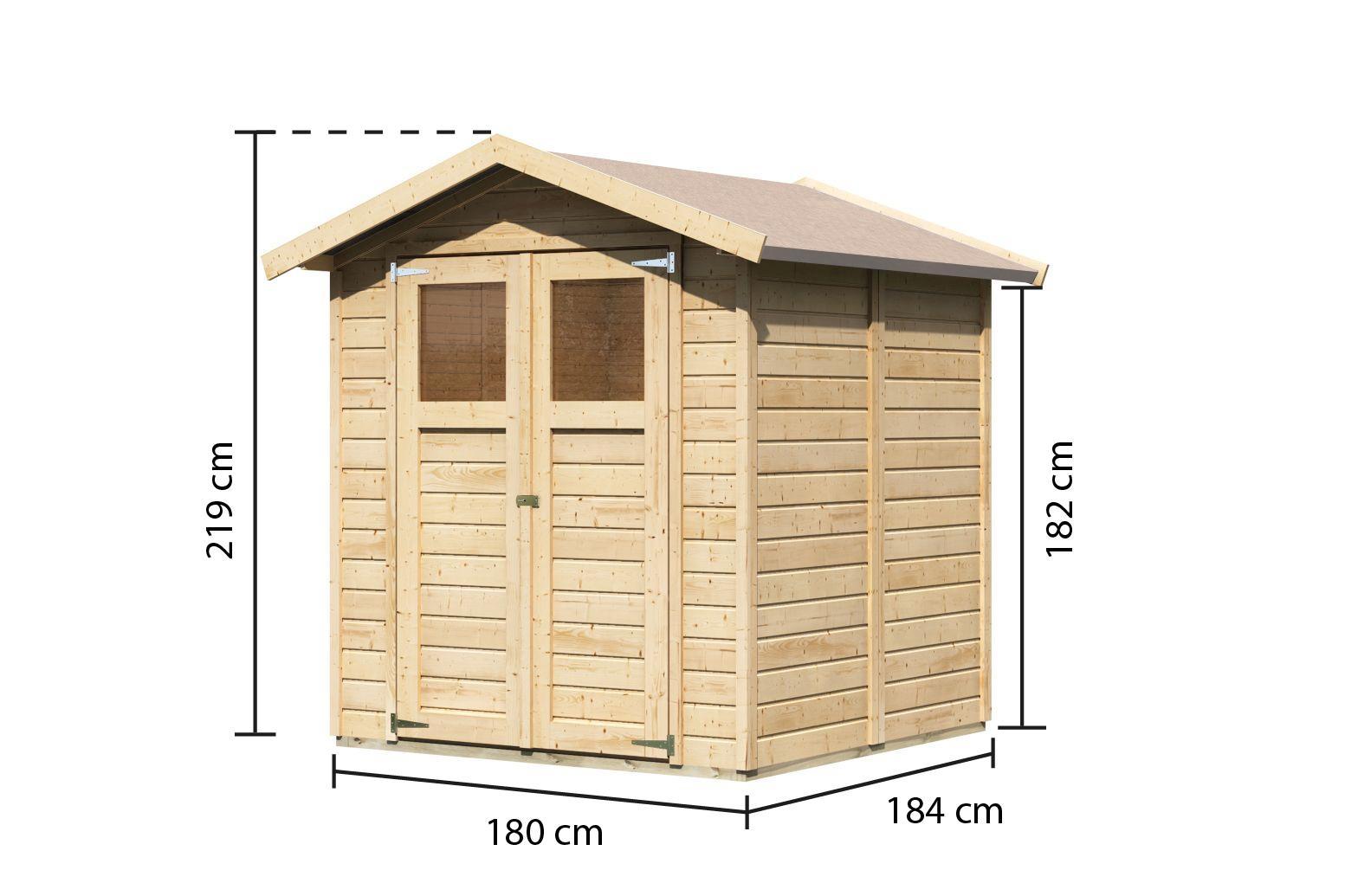 dřevěný domek KARIBU DAHME 3 (14517) SET